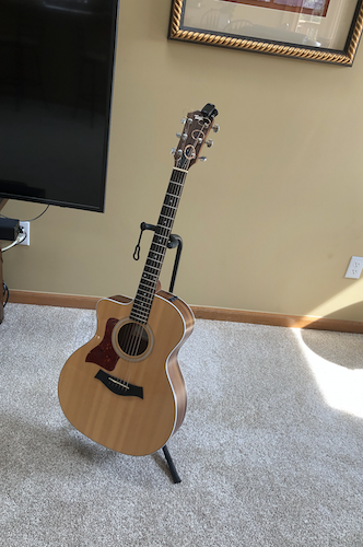 Acoustic guitar in the living room